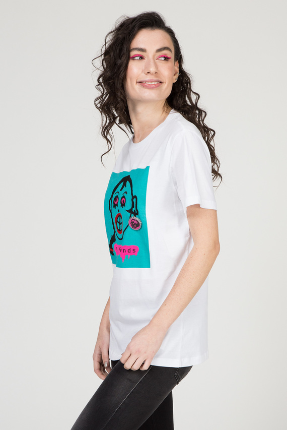 Женская белая футболка T-DARIA-K