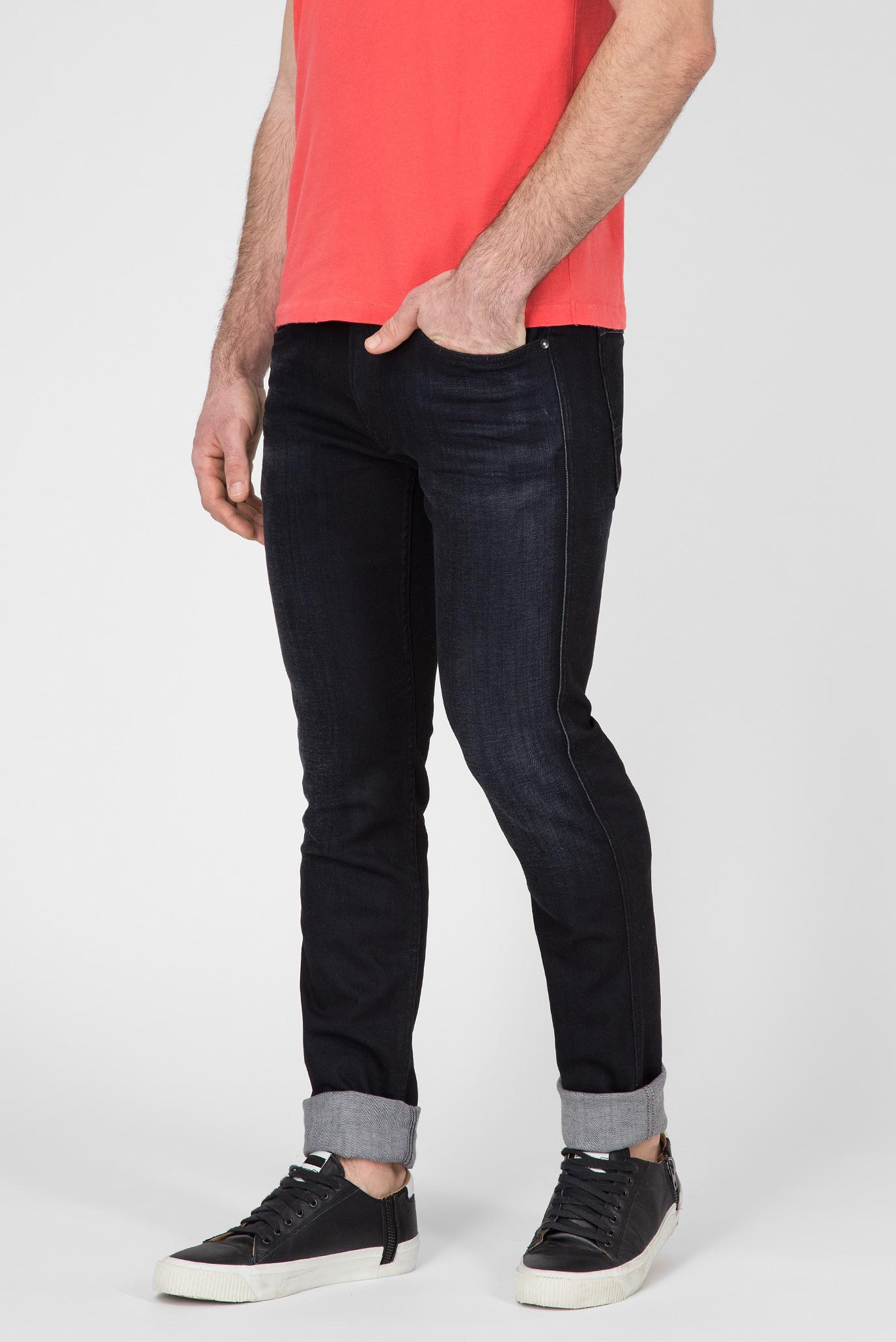 Мужские черные джинсы ANBASS COIN ZIP Replay