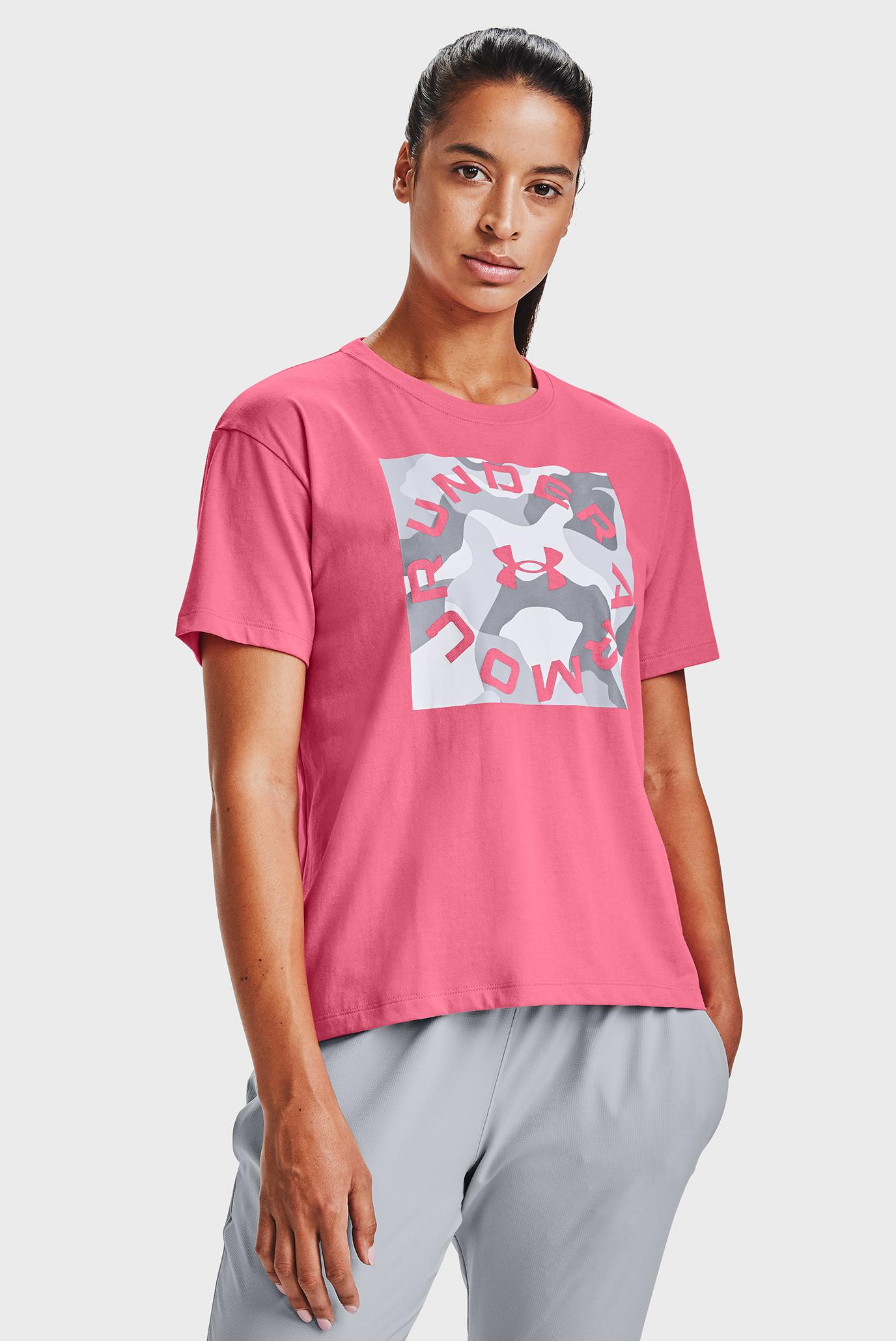 Жіноча рожева футболка Live Fashion Camo Graphic 1