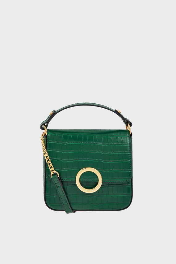 Женская зеленая сумка через плечо OLIVE LOCK