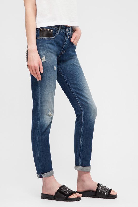 Женские синие джинсы HETER