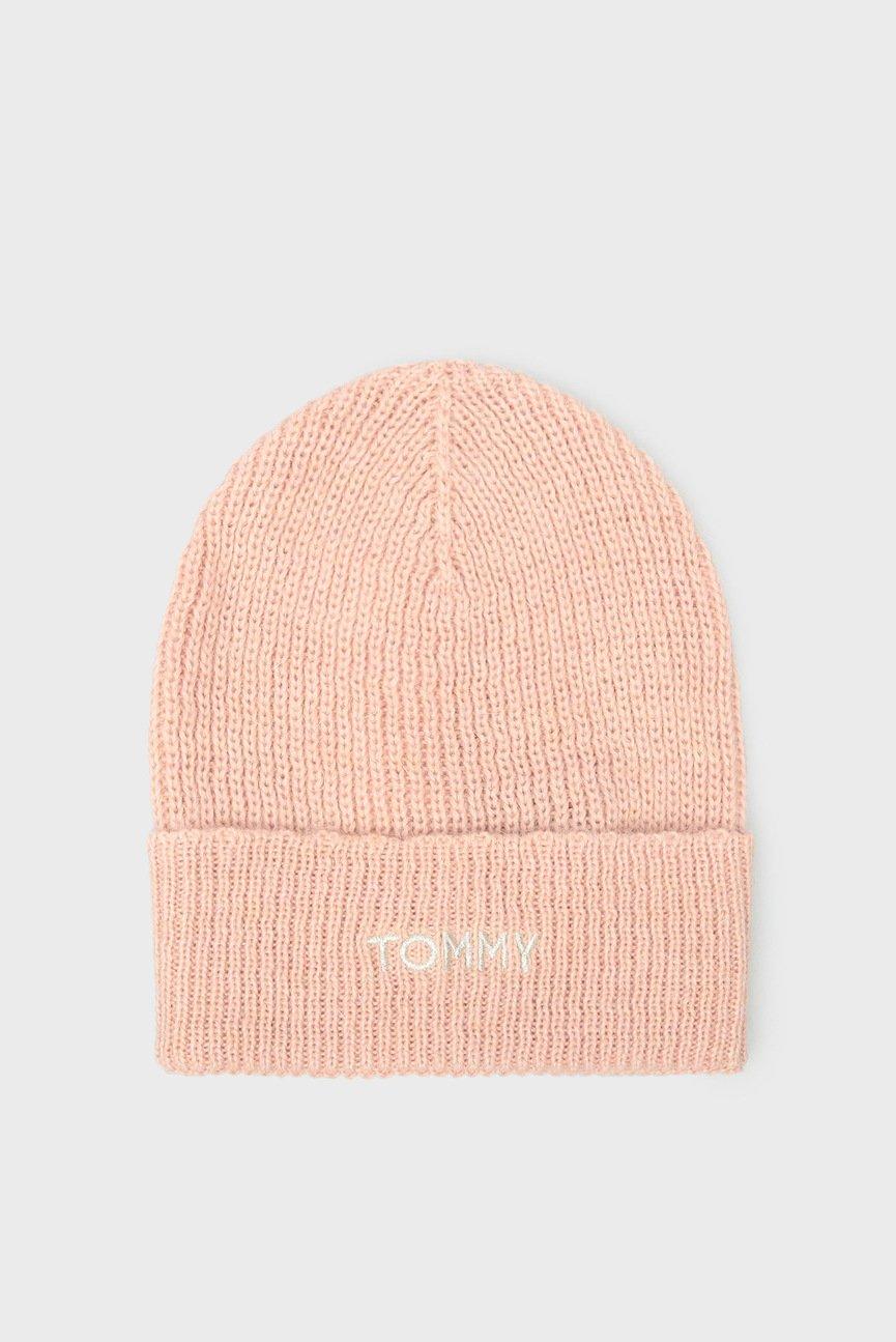 Женская розовая шапка EFFORTLESS KNIT