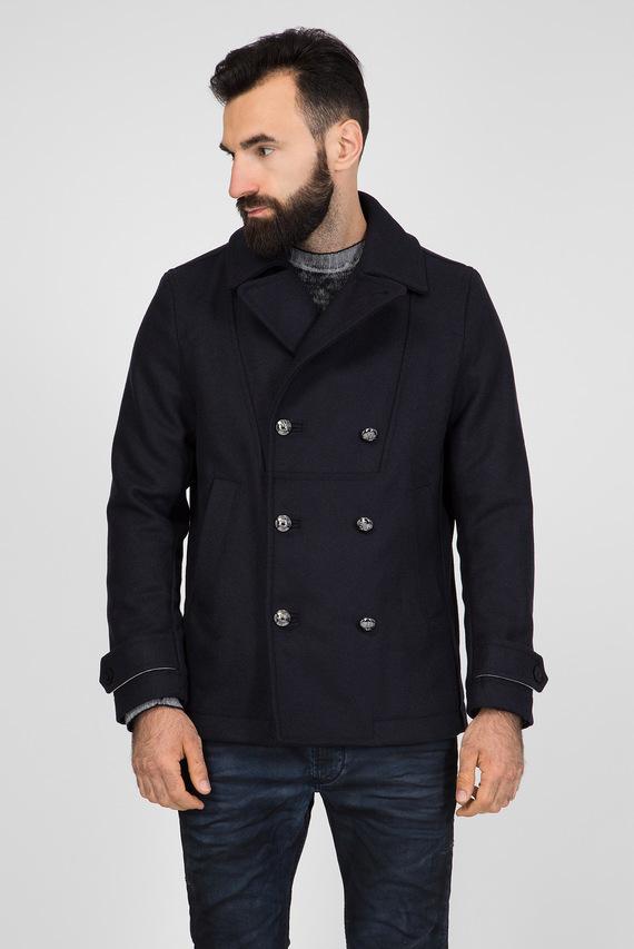 Мужское темно-синее пальто W-BANFI GIACCA