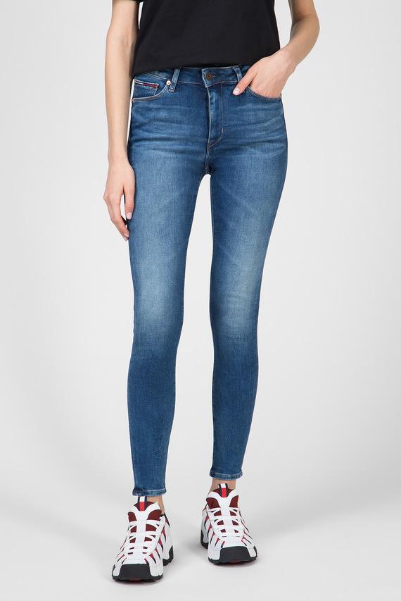 Женские синие джинсы TJ 2008 HIGH RISE SUPER SKNY
