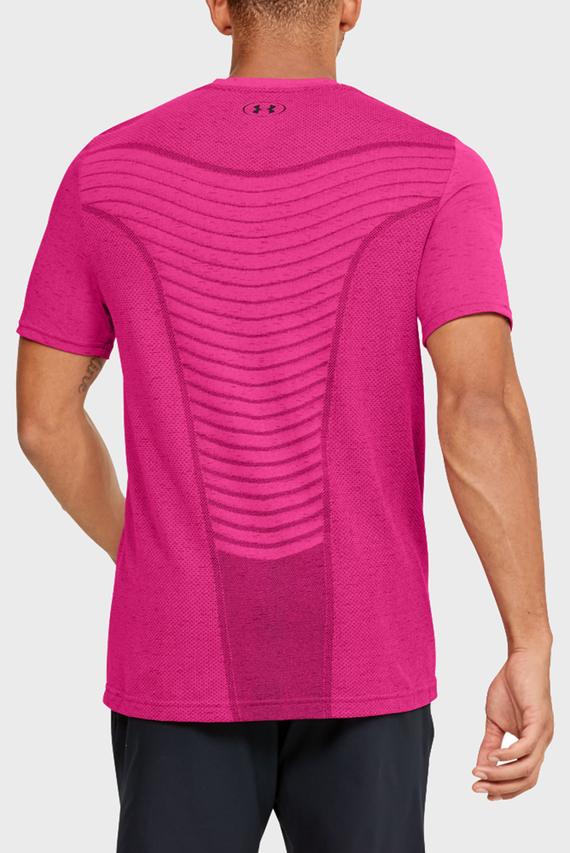 Мужская розовая спортивная футболка Seamless Wave SS