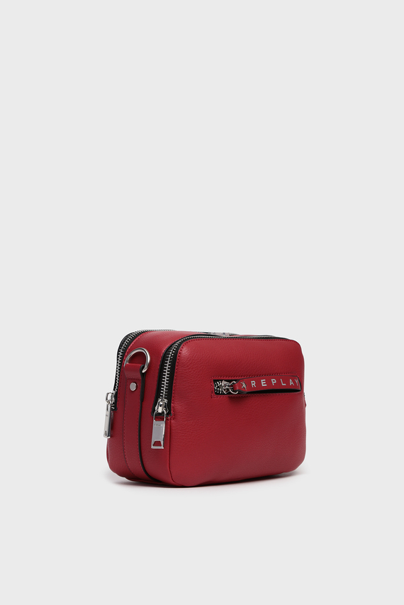 Женская красная сумка через плечо