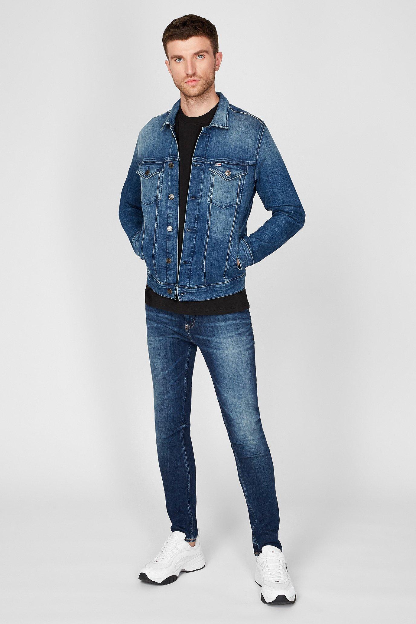 Мужская темно-синяя джинсовая куртка REGULAR TRUCKER Tommy Jeans