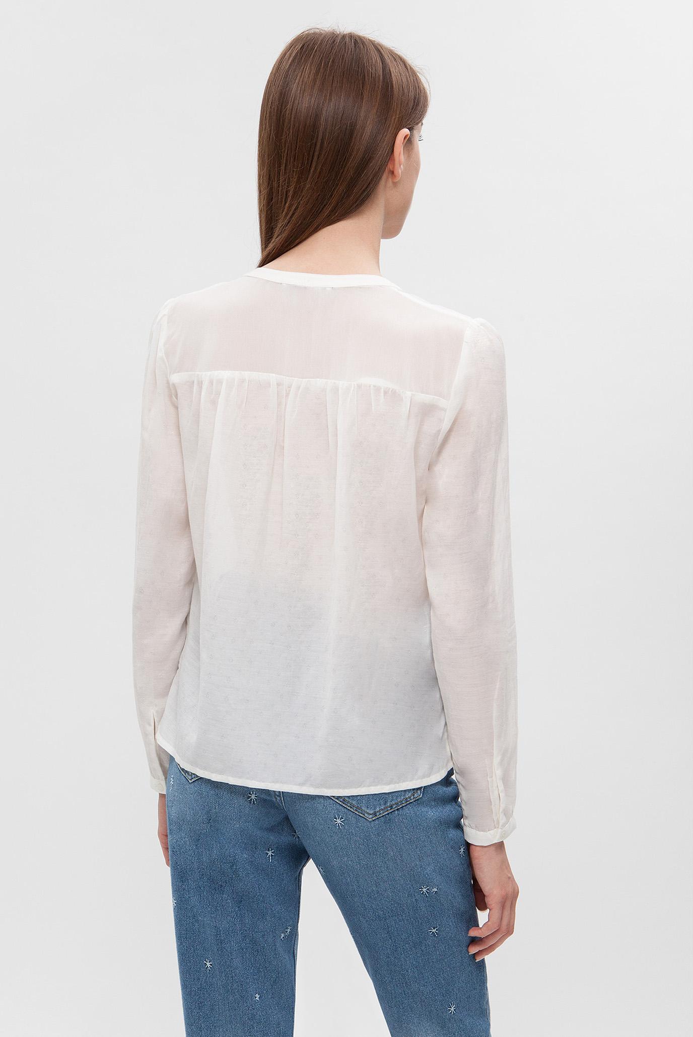 Купить Женская белая блуза Tommy Hilfiger Tommy Hilfiger DW0DW04200 – Киев, Украина. Цены в интернет магазине MD Fashion