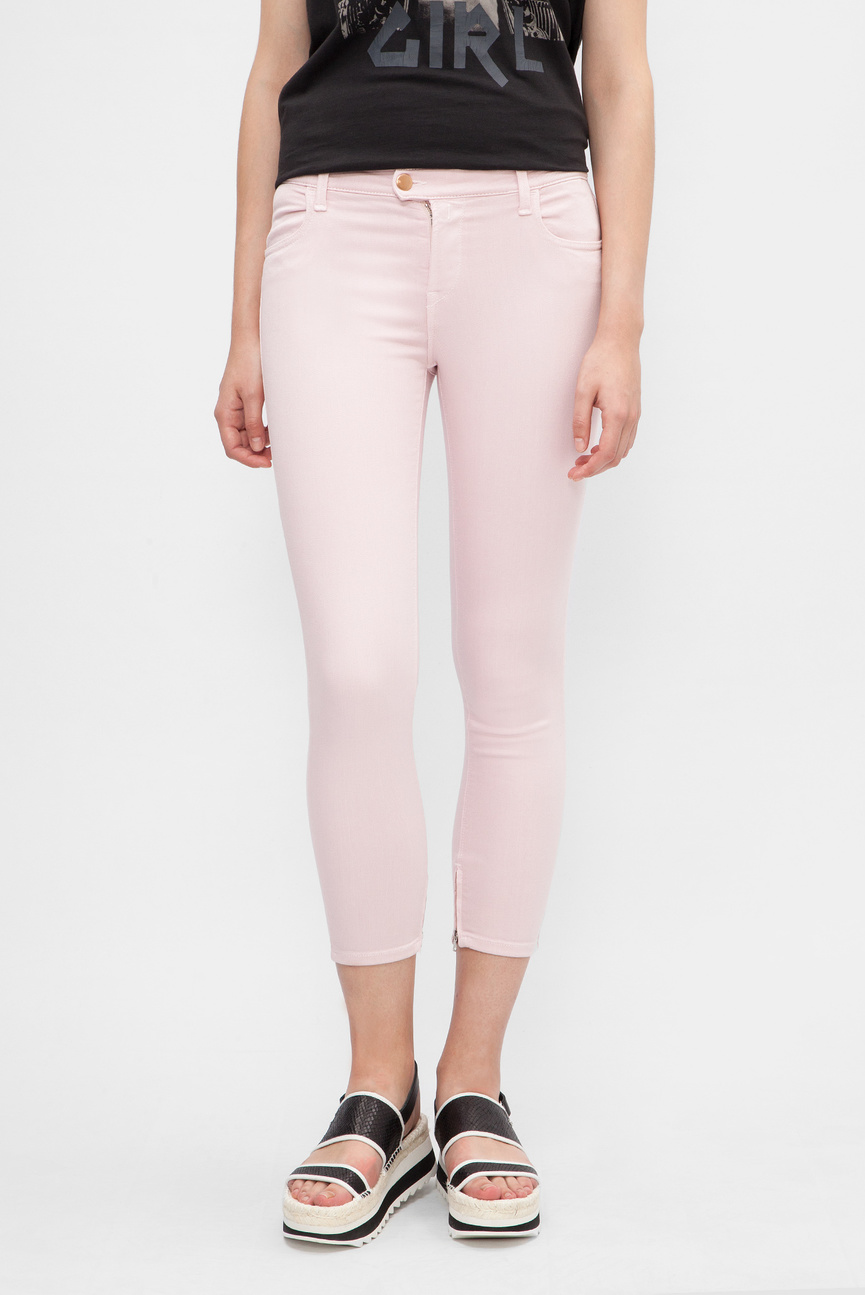 Женские розовые джинсы Skinny Cropped
