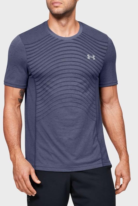 Мужская синяя спортивная футболка Seamless Wave SS