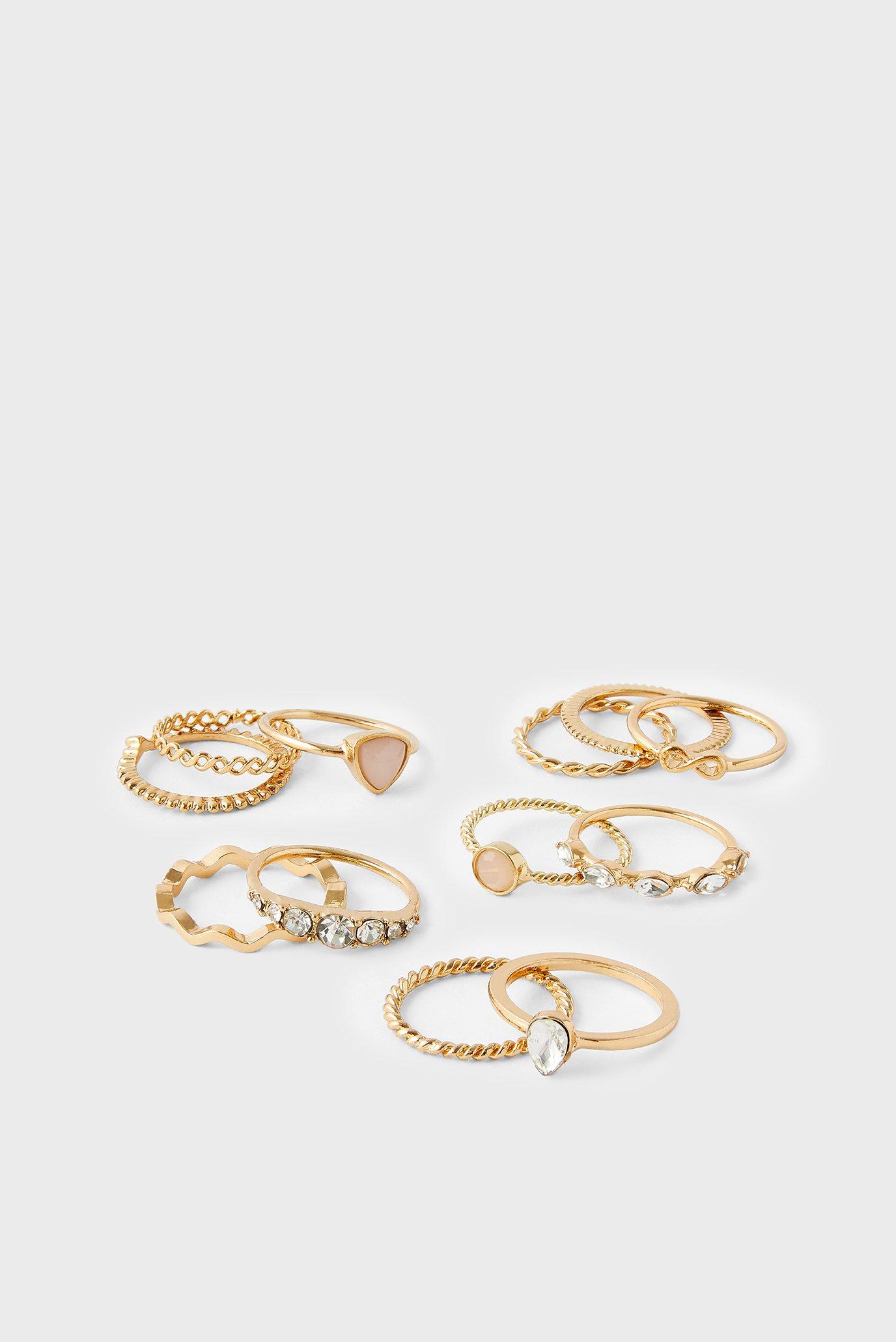 Женские золотистые кольца (12 шт) VALUE RING PACK 1