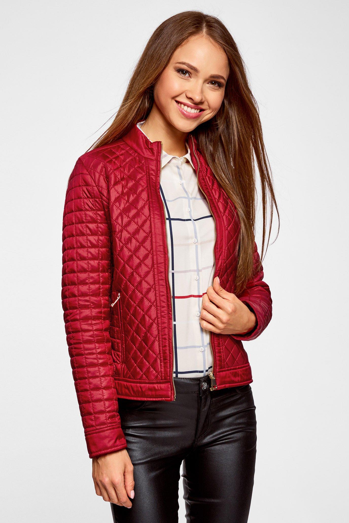 258e34ad6da Купить Женская красная стеганая куртка exclusive Oodji Oodji  28304005 45684 4500N – Киев