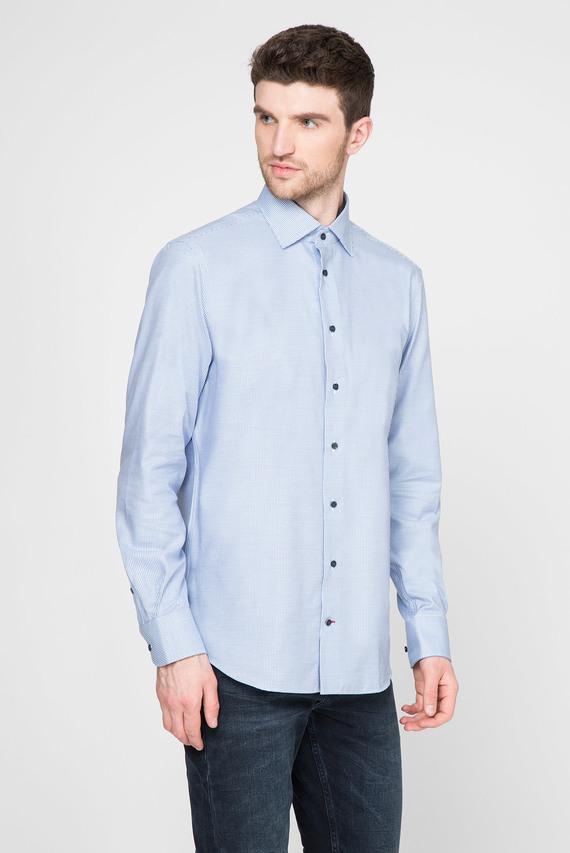 Мужская голубая рубашка CHECK CLASSIC NON IRON
