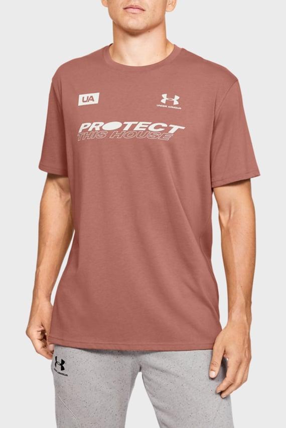 Мужская коричневая футболка UA PTH BACK SS
