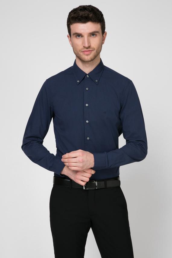 Мужская темно-синяя рубашка BUTTON DOWN