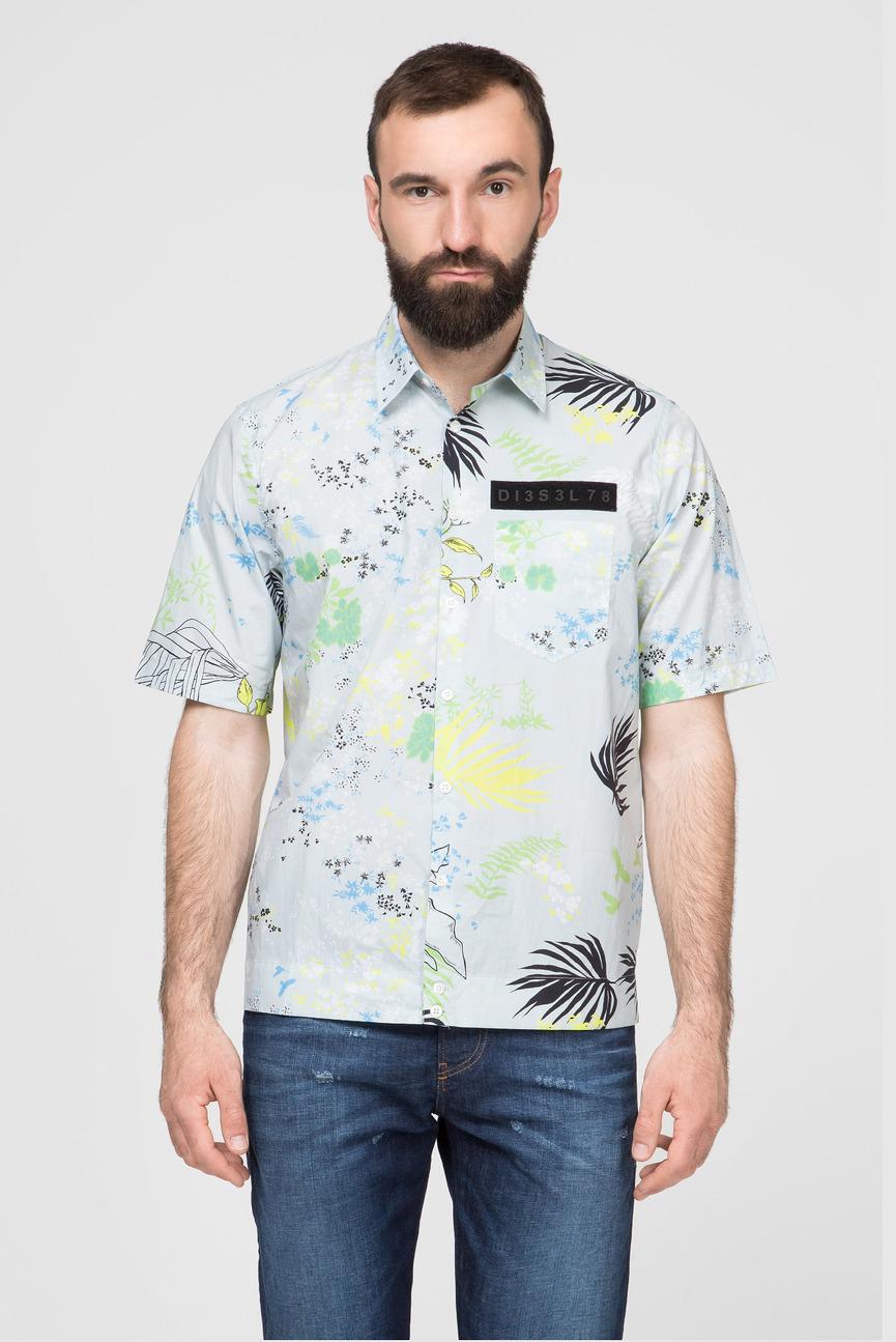 Мужская голубая рубашка S-FRY-FLOW
