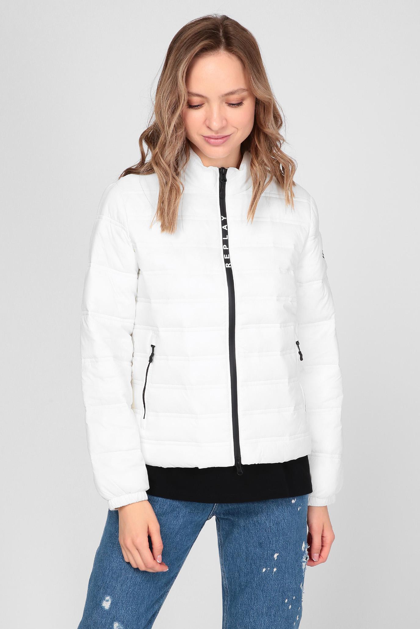 Жіноча біла куртка 1