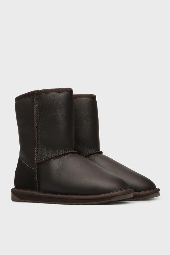 Женские коричневые кожаные угги Townsend