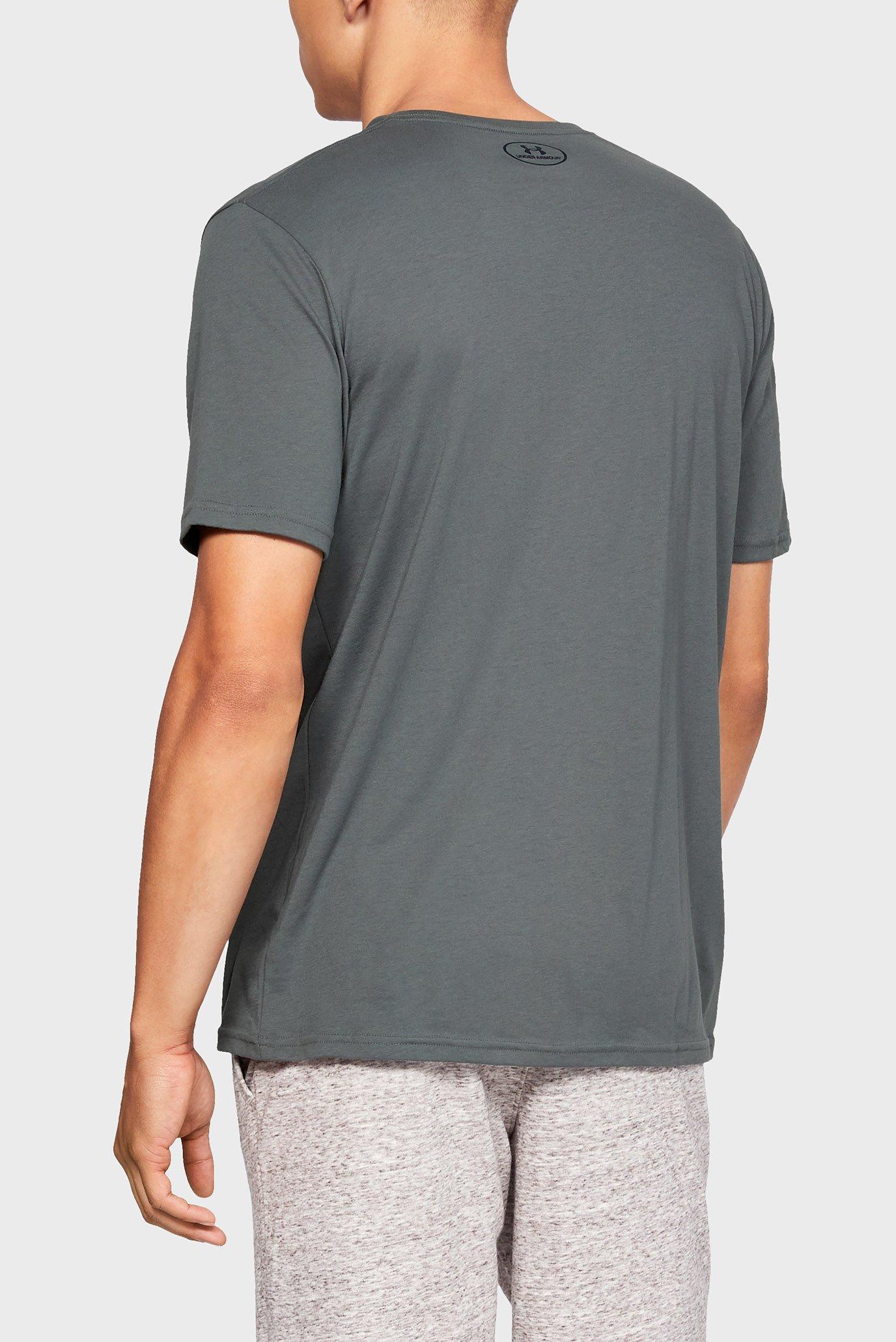 Мужская серая футболка SPORTSTYLE LOGO SS Under Armour