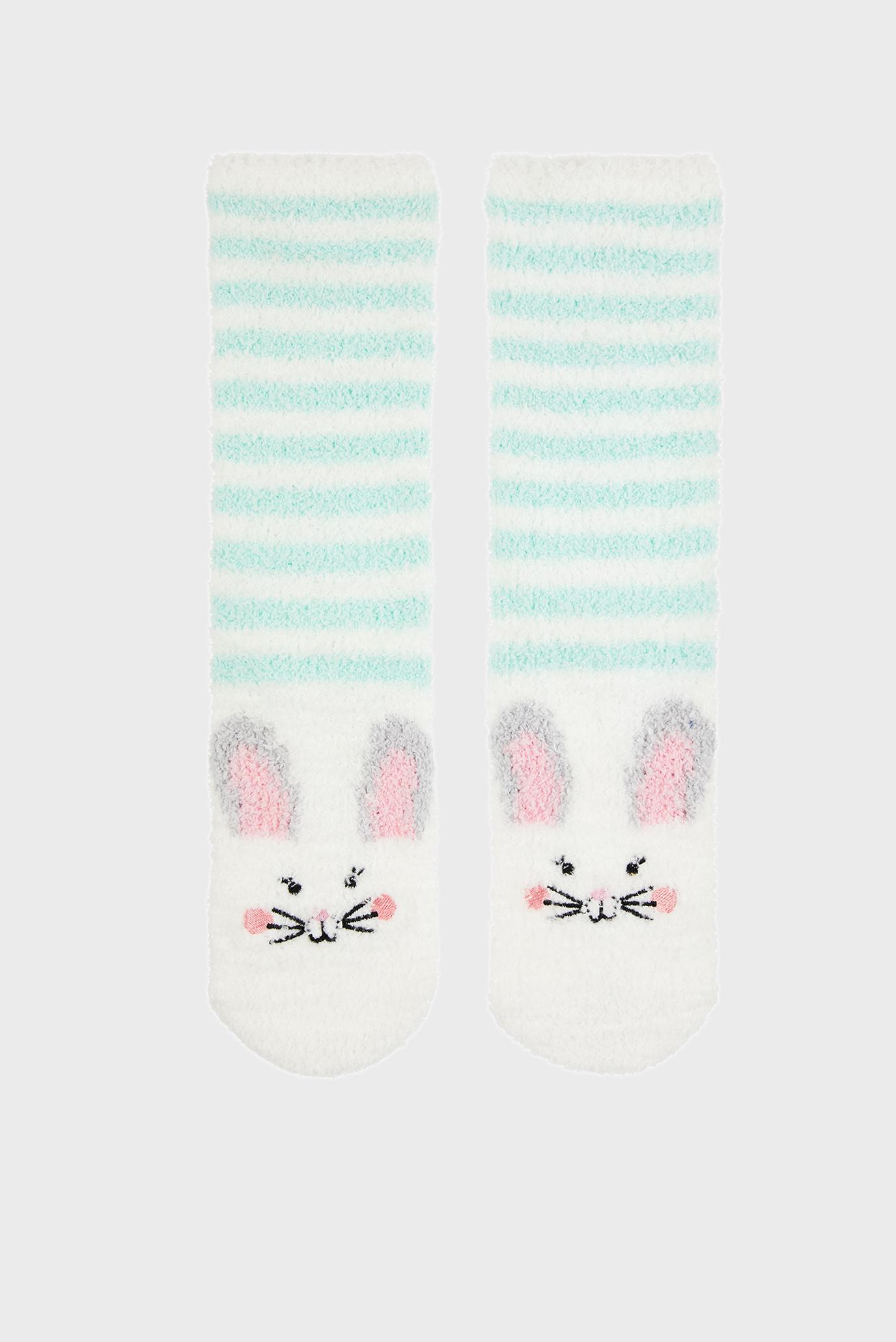 Детские белые носки Bunny Slipper Sock 1
