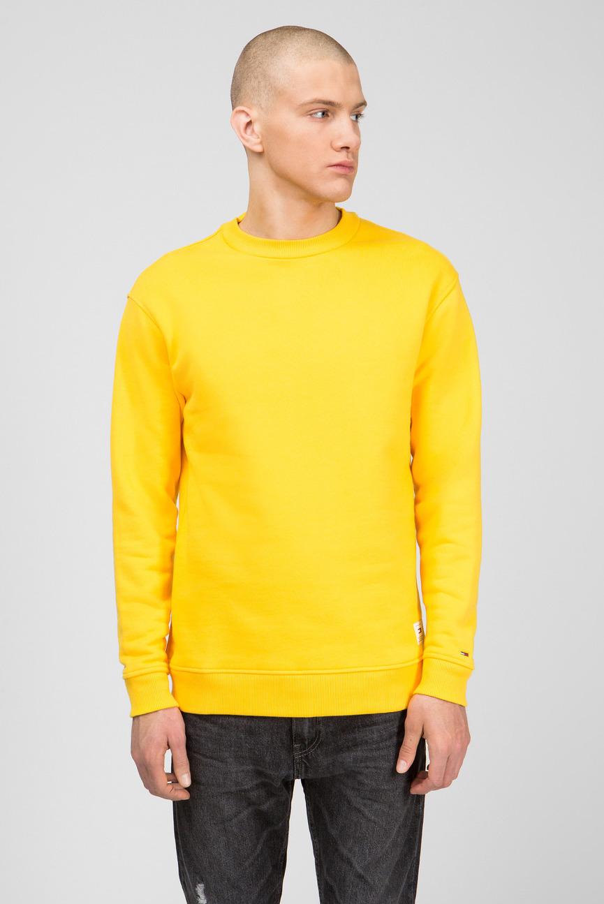 Мужской желтый свитшот