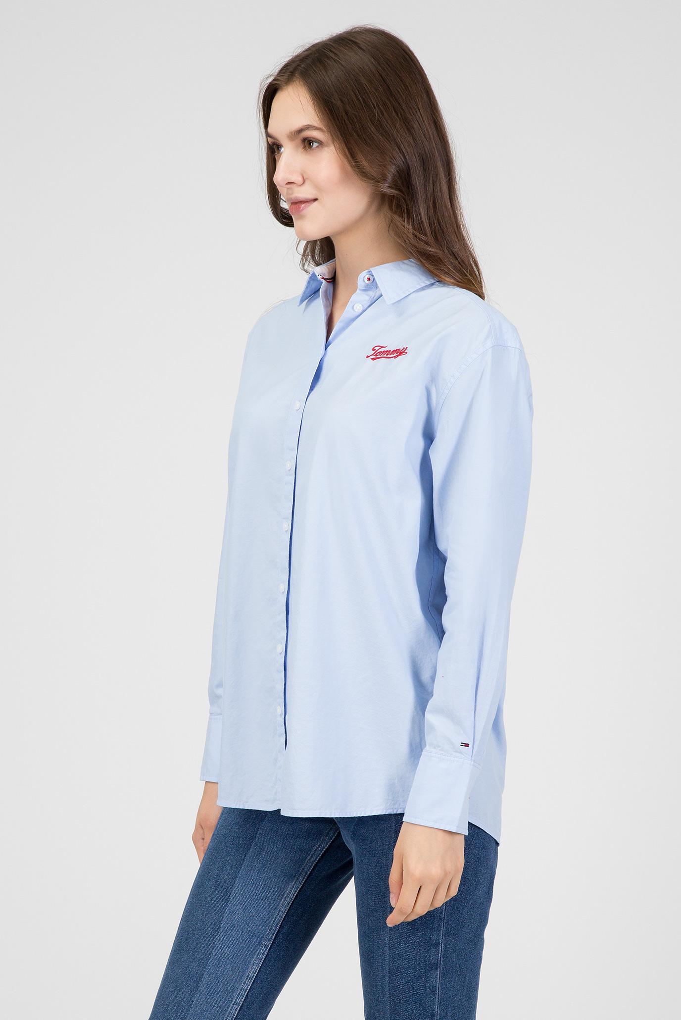 Купить Женская голубая рубашка Tommy Hilfiger Tommy Hilfiger DW0DW05260 – Киев, Украина. Цены в интернет магазине MD Fashion