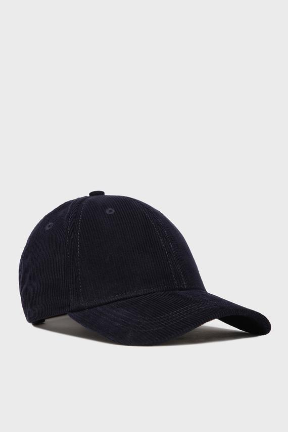 Мужская темно-синяя вельветовая кепка D1. CORDUROY