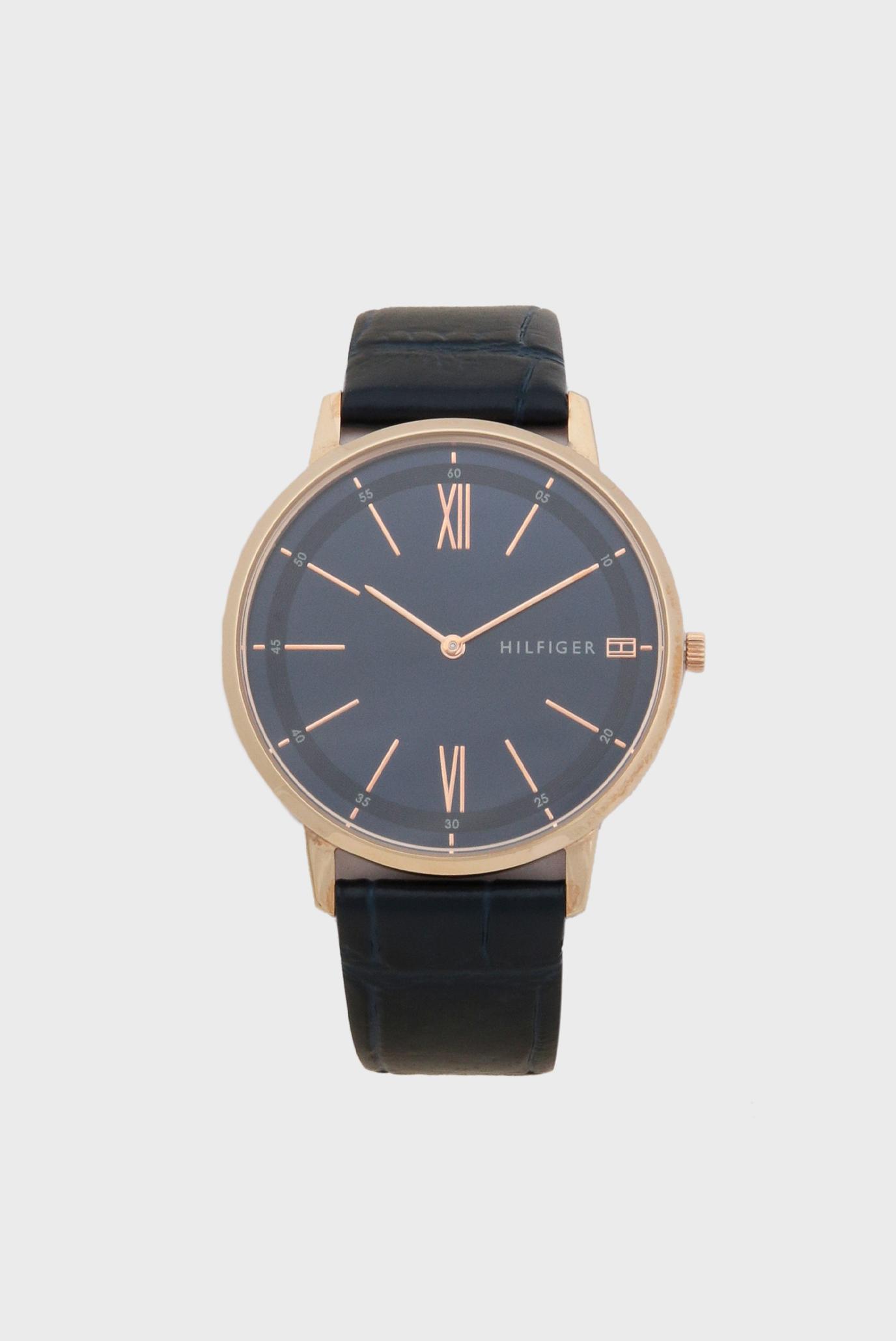 Чоловічий темно-синій годинник 1