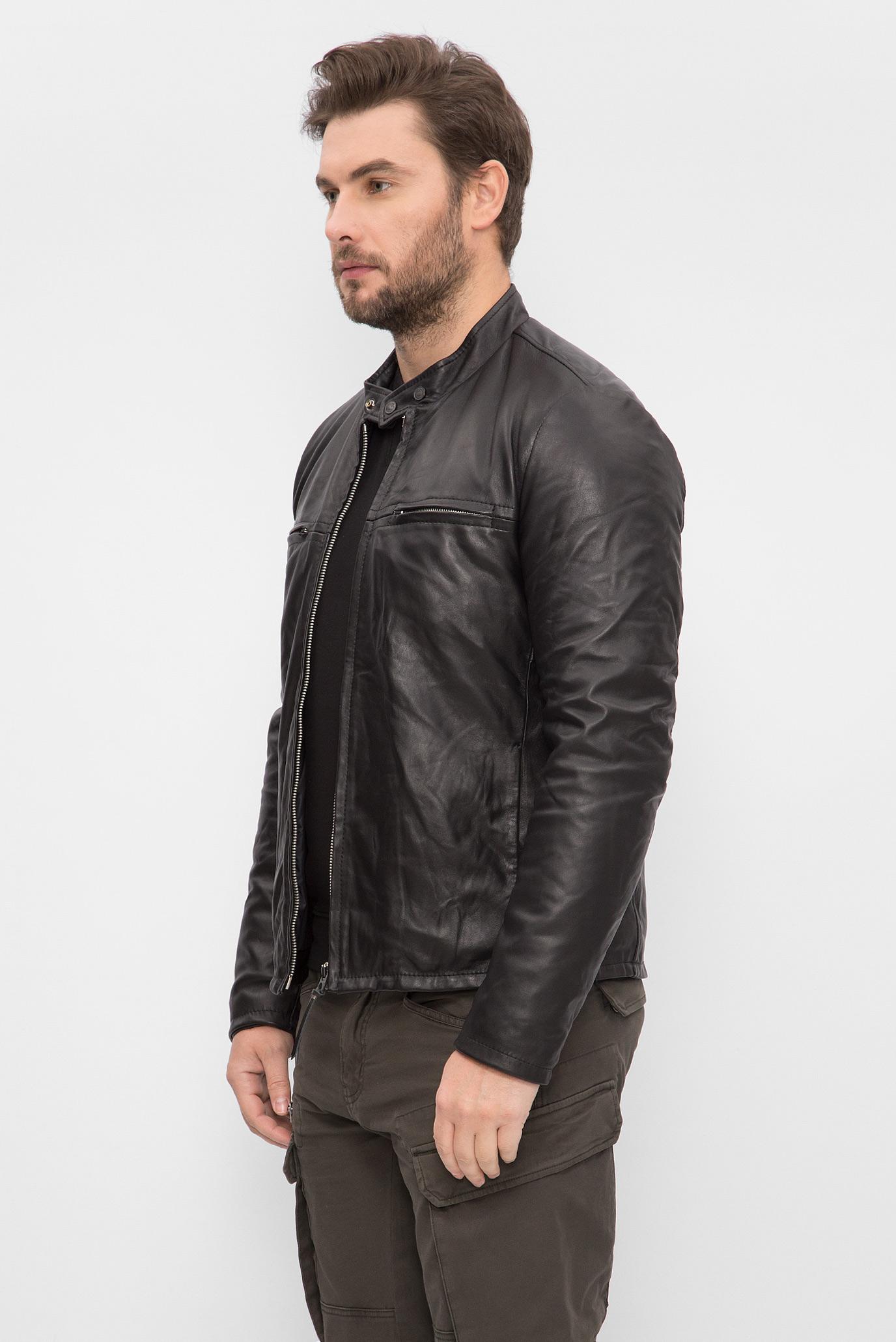 Купить Мужская черная кожаная куртка Replay Replay M8893 .000.82926T – Киев 1d54f50c36830