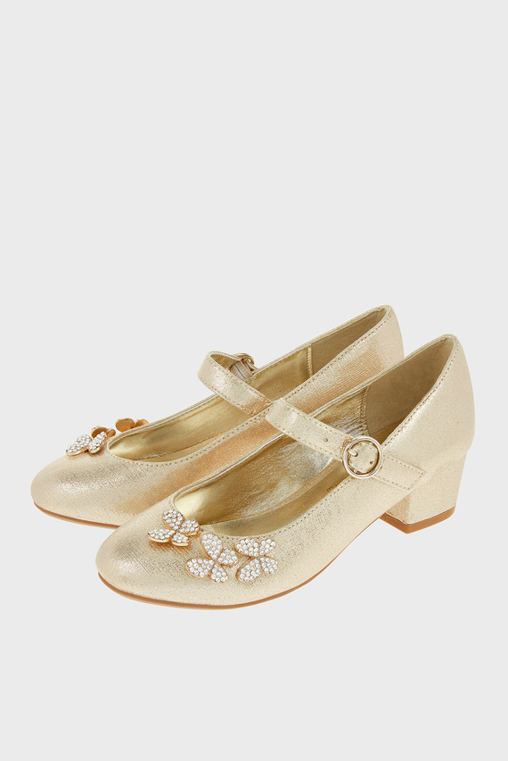 Детские золотистые туфли MARIA BUTTERFLY