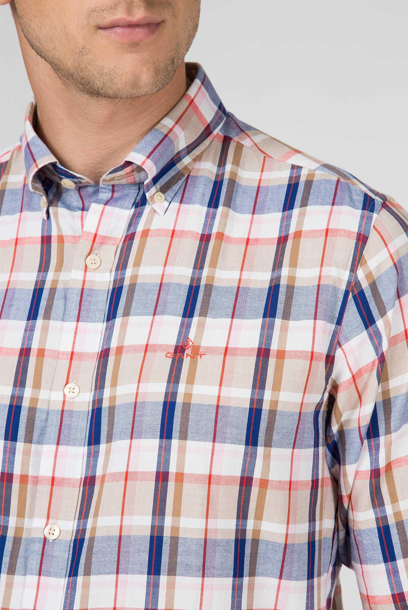 Купить Мужская рубашка в клетку OXFORD PLAID 213 Gant Gant 3017630 – Киев, Украина. Цены в интернет магазине MD Fashion