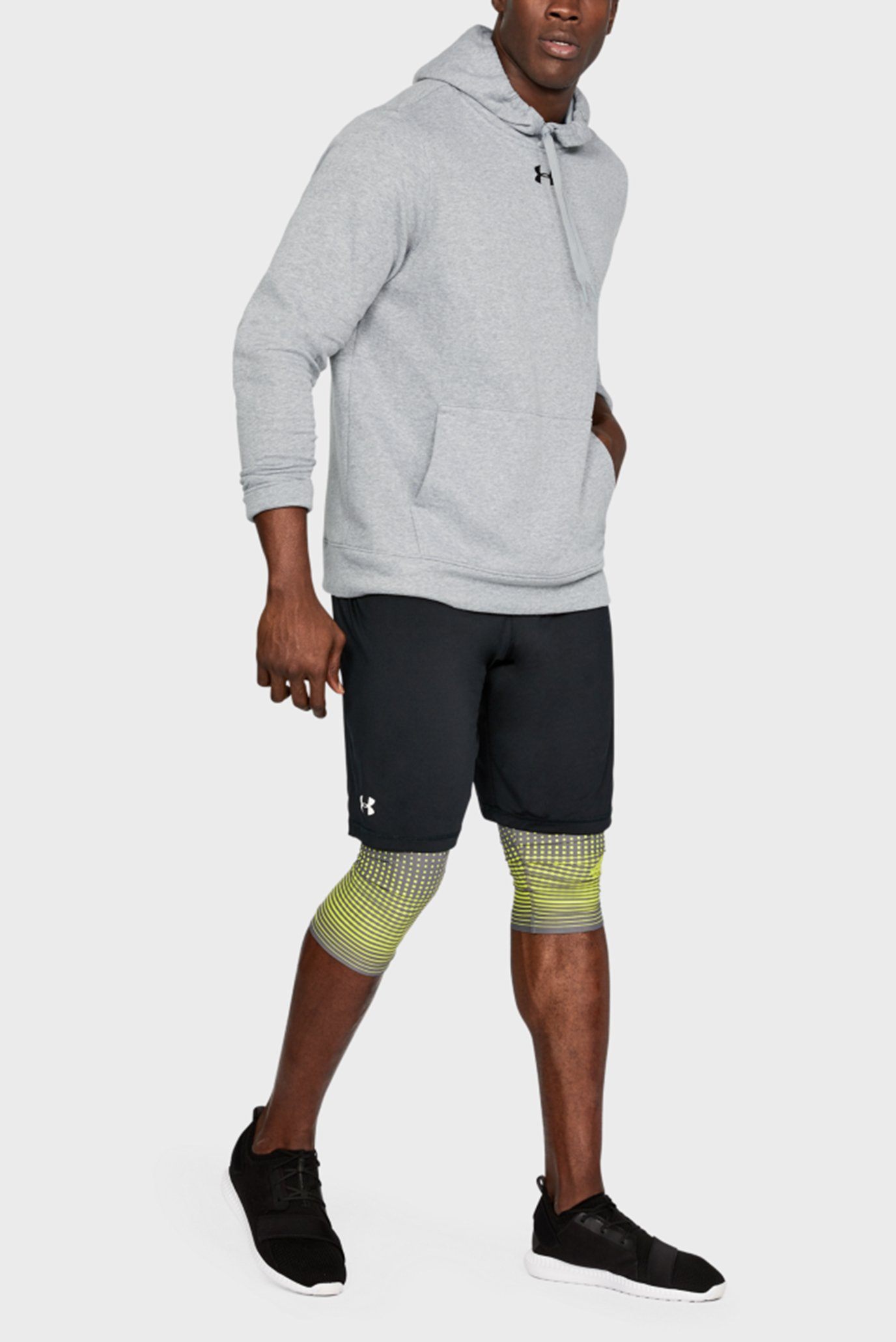 Купить Мужское серое худи UA M's Hustle Fleece Hoody Under Armour Under Armour 1300123-025 – Киев, Украина. Цены в интернет магазине MD Fashion