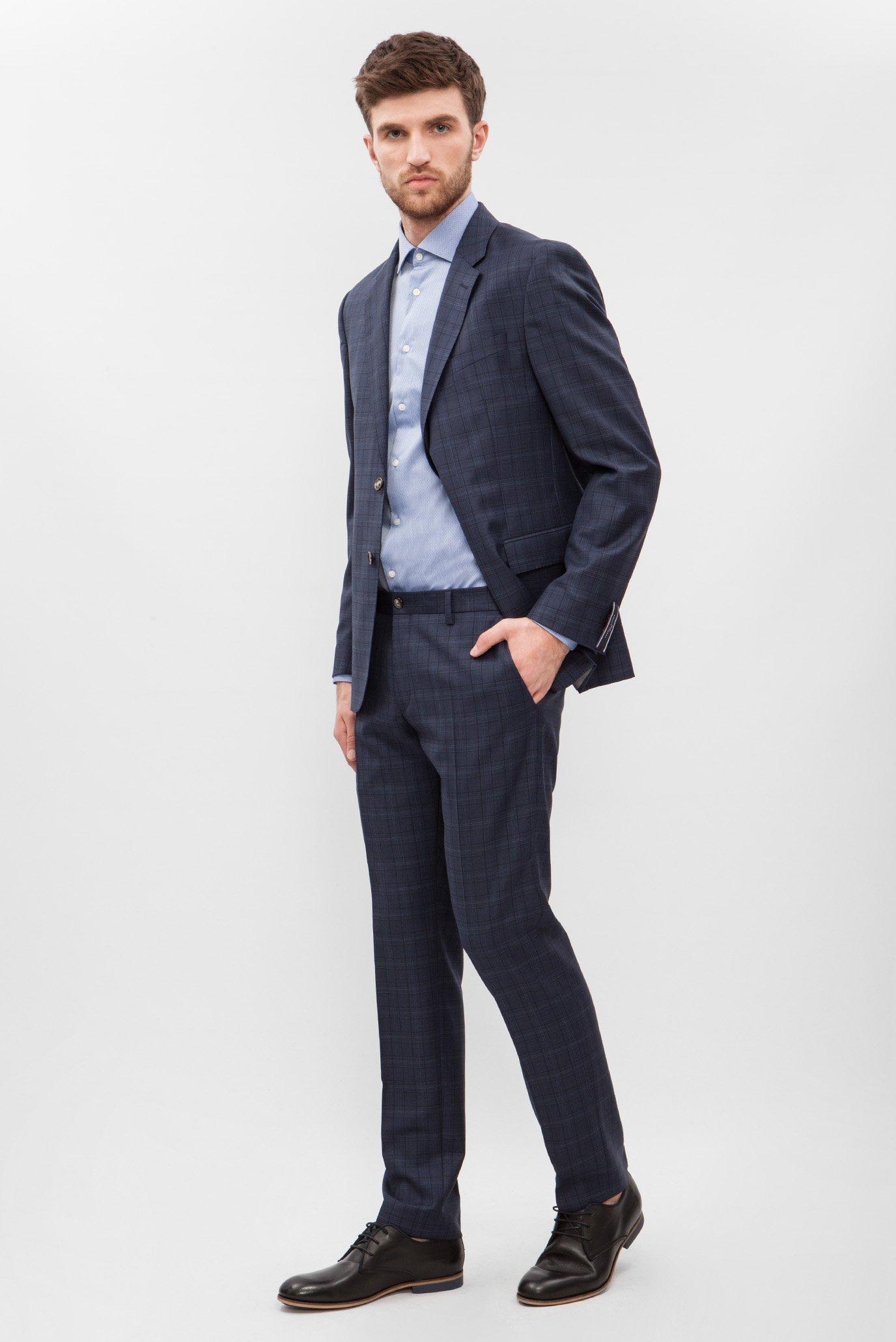 Купить Мужской темно-синий костюм в клетку Tommy Hilfiger Tommy Hilfiger TT0TT01810 – Киев, Украина. Цены в интернет магазине MD Fashion