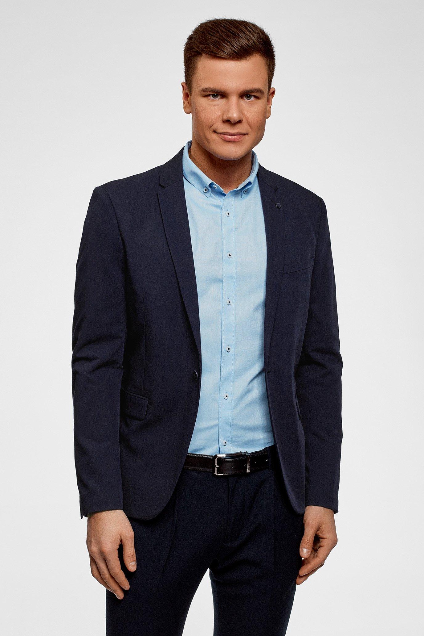 Купить Мужской темно-синий пиджак Oodji Oodji 2B410021M/47747N/7901N – Киев, Украина. Цены в интернет магазине MD Fashion