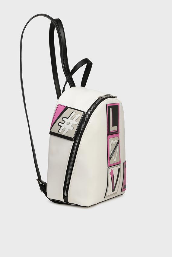 Женский белый рюкзак THINK PINK