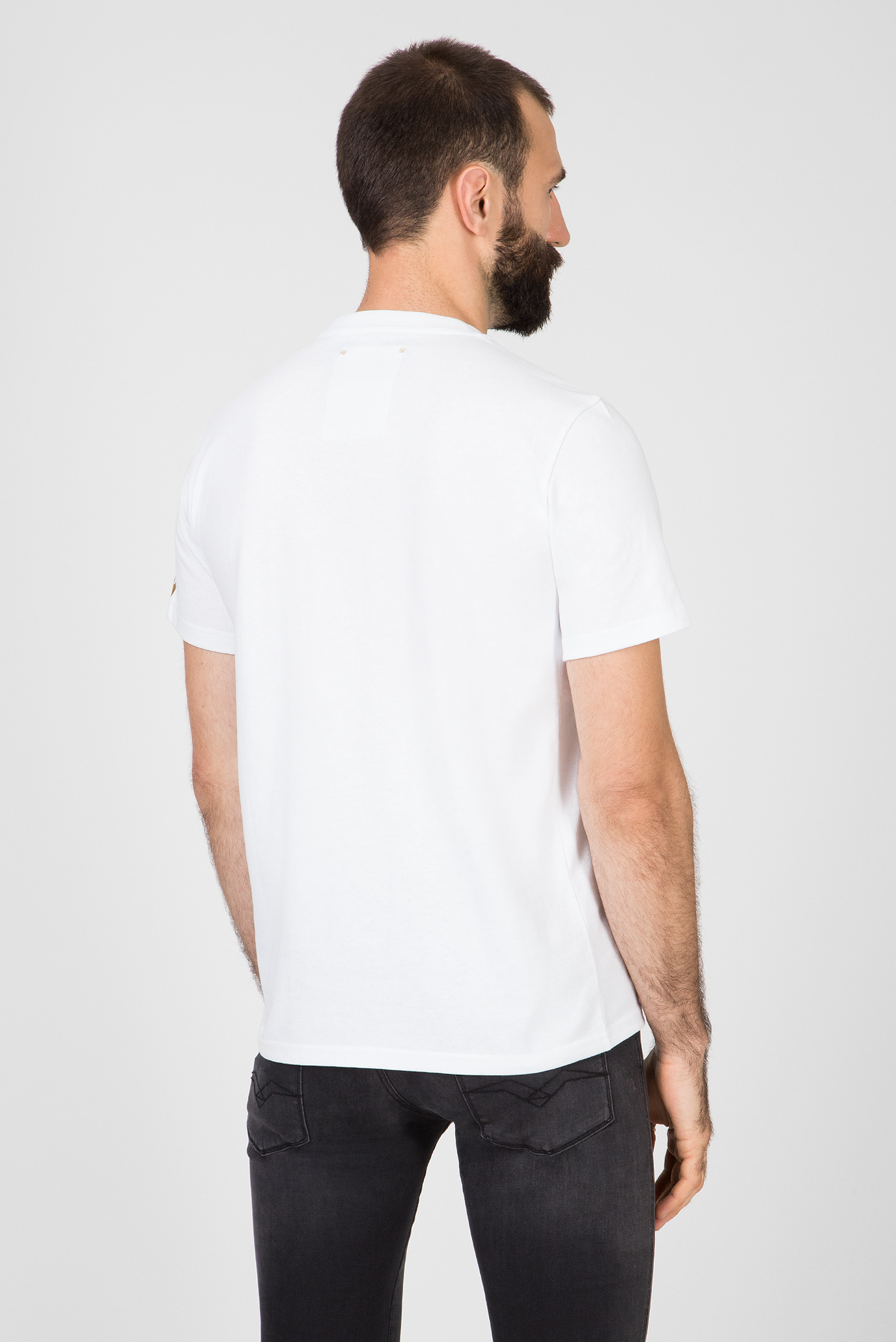 Мужская белая футболка TRIBUTE 2PAC Replay