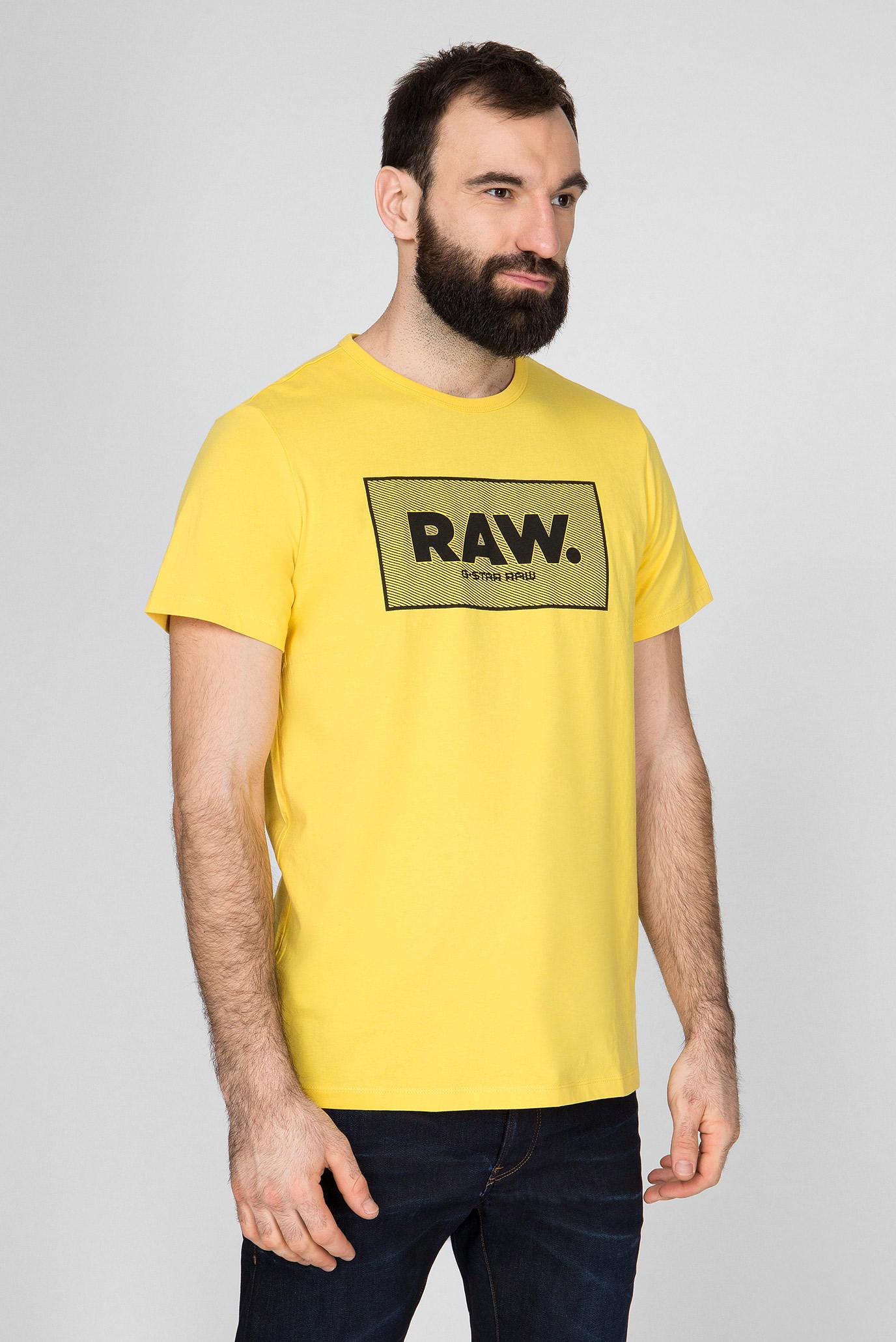 Мужская желтая футболка Boxed G-Star RAW