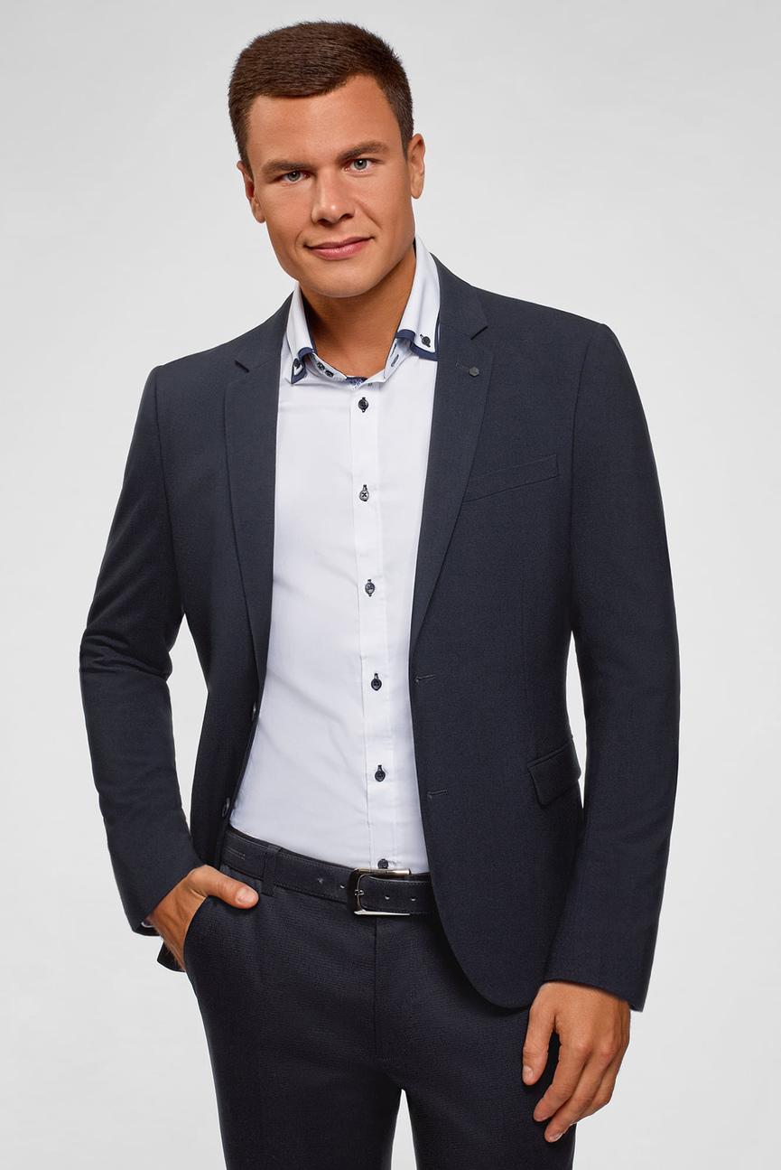 Мужской синий пиджак
