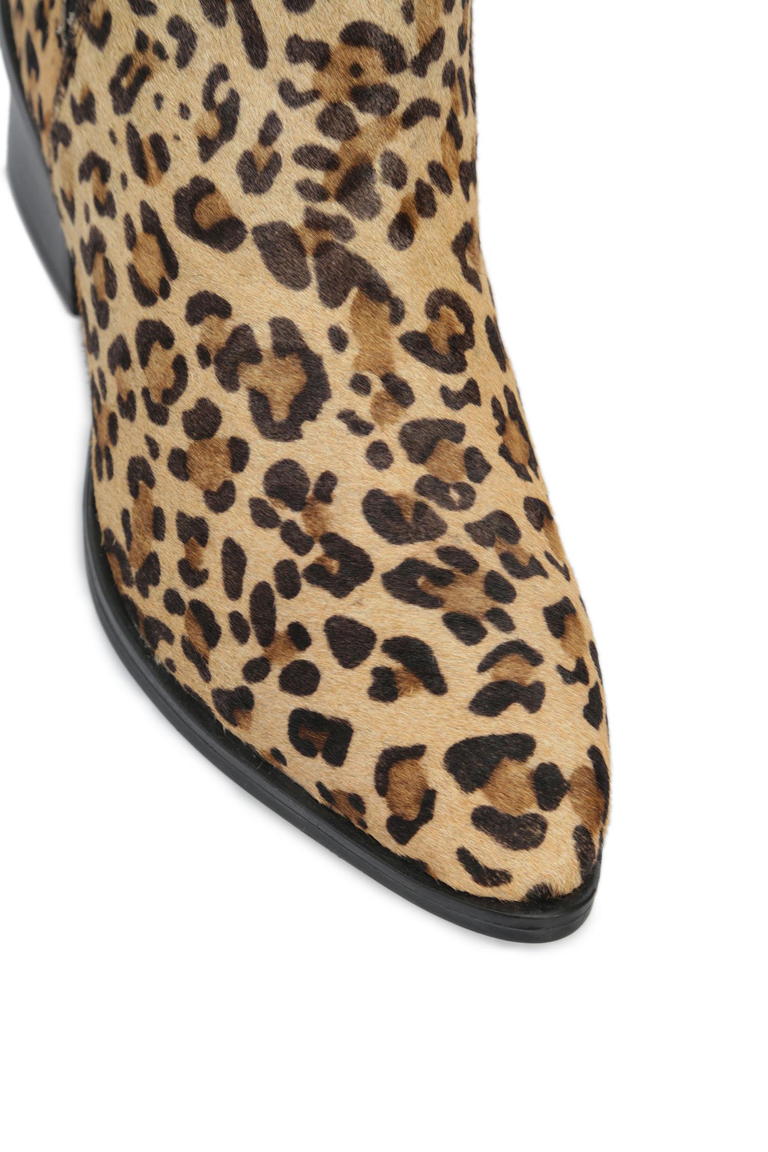 Женские леопардовые кожаные челси Levi's
