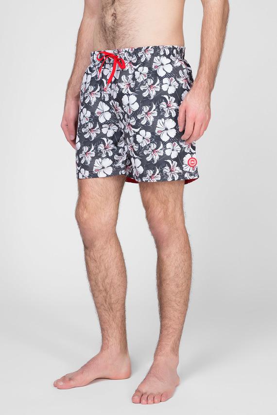 Мужские серые плавательные шорты