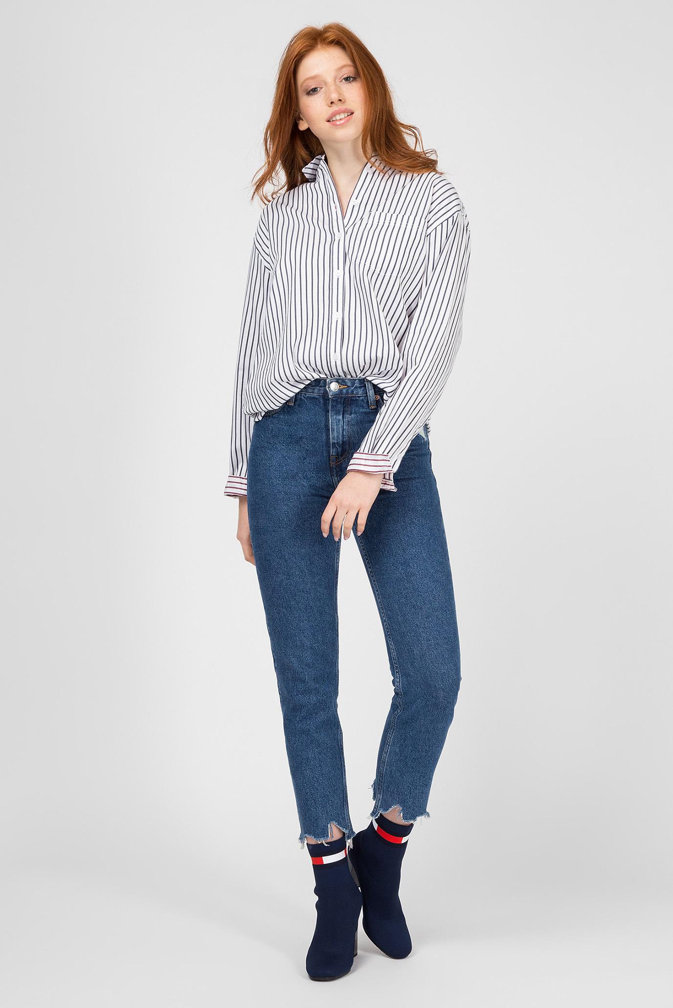 Купить Женская рубашка в полоску Tommy Hilfiger Tommy Hilfiger DW0DW05251 – Киев, Украина. Цены в интернет магазине MD Fashion