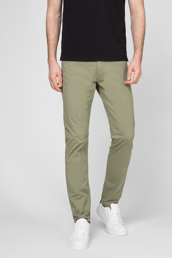Мужские зеленые брюки RELAXED POPLIN