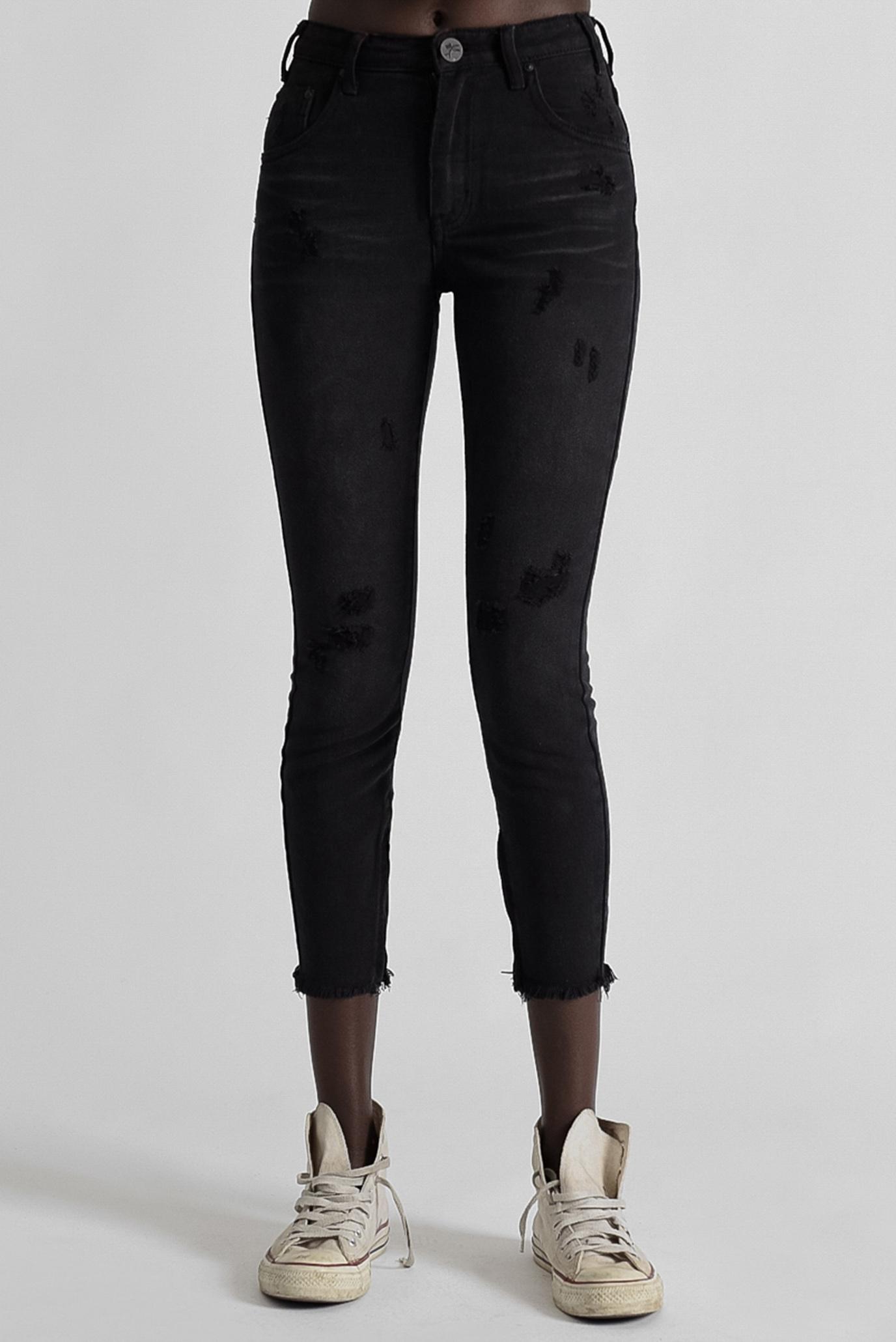 Женские черные джинсы BLACK OAK HIGH WAIST FREEBIRDS One Teaspoon