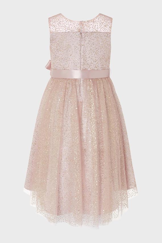 Детское розовое платье NOVA GLITTER
