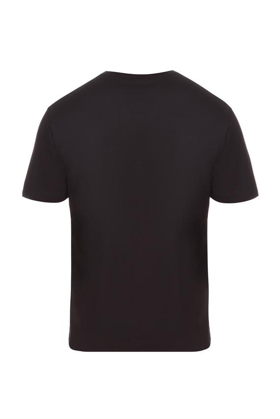 Мужская черная пижамная футболка
