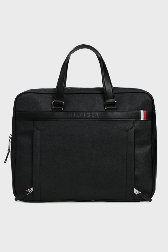 Мужская черная сумка для ноутбука COATED CANVAS SLIM COMPUTER BAG