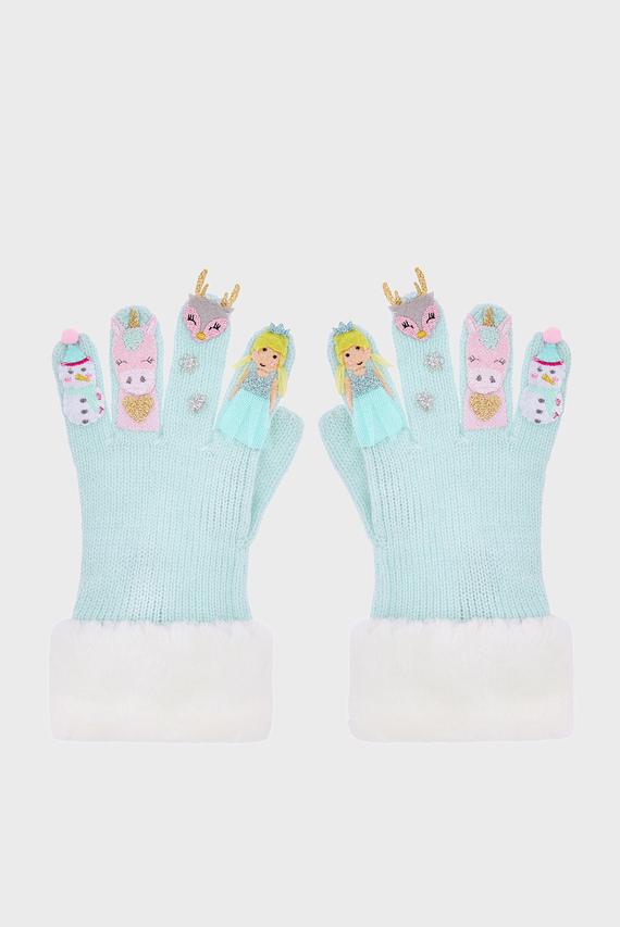 Детские голубые перчатки FROSTY NOVELTY GLOVE