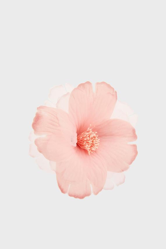 Женская розовая заколка LARGE CHIFFON HIBISCUS CORSAGE