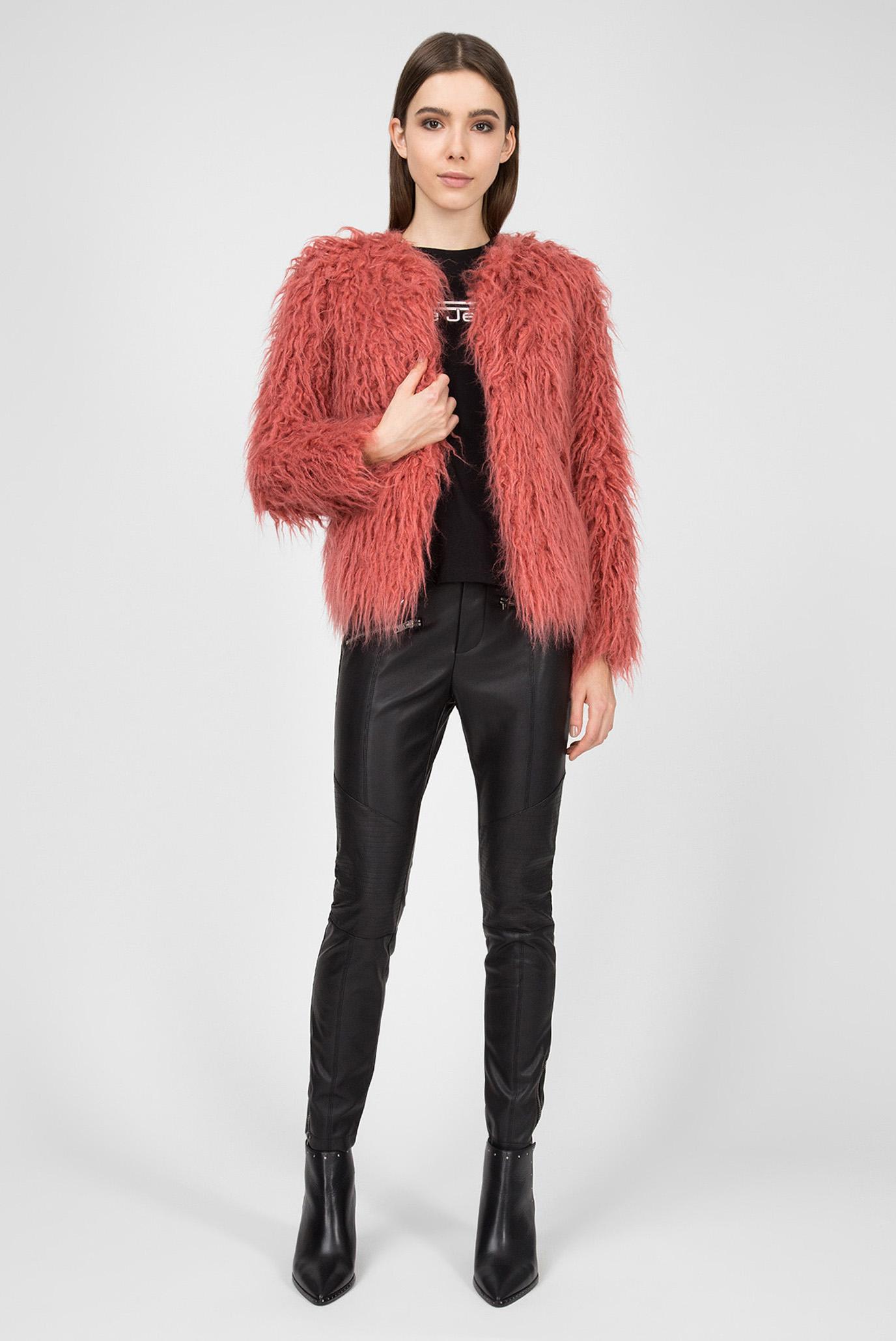 Женский розовый полушубок GILDA Pepe Jeans