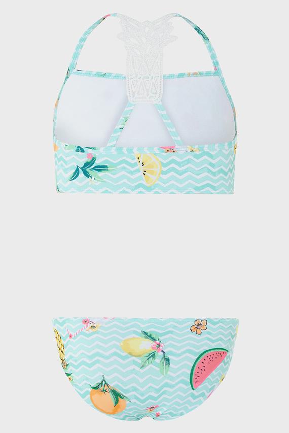 Детский бирюзовый купальник (топ, трусики) Flory Pineapple